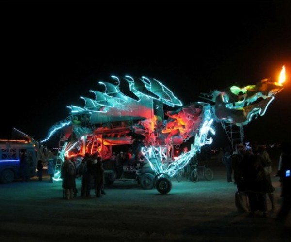 Fire-Beathing Dragon DJ Booth Lights Up the Night