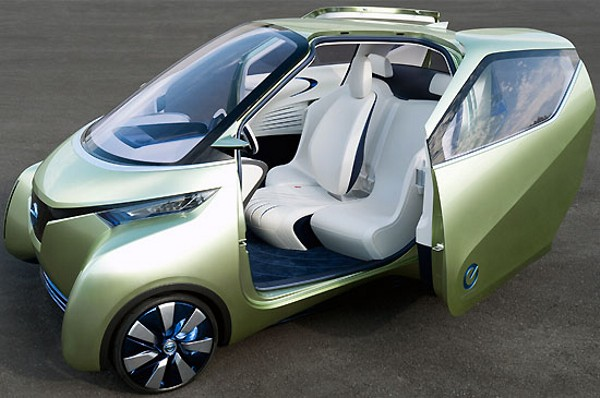 Nissan Pivo Concept Car Has Winglike Doors It Cant Fly But It - Cool car doors
