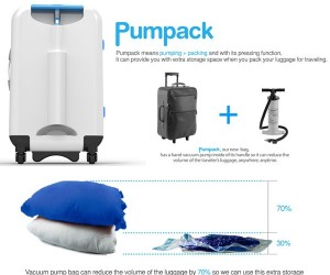 Pumpack: Vacuum-Packed Suitcase Lets You Carry More