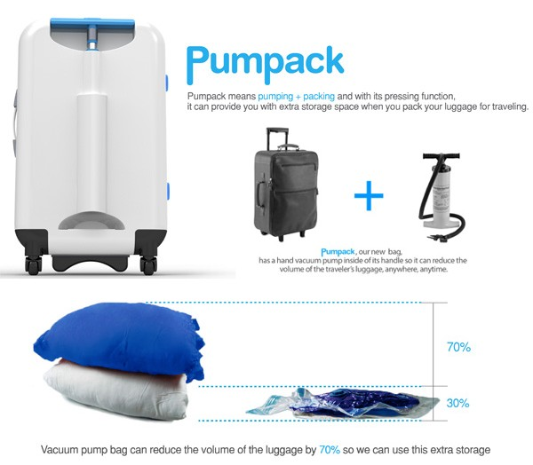 Pumpack Vacuum Packed Suitcase Lets You Carry More