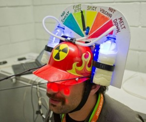 Nuclear Taco Sensor Helmet Let's You Share How Hot Your Taco Is