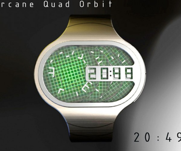 Arcane Quad Orbit Watch Concept Spins its Wheels to Tell the Time