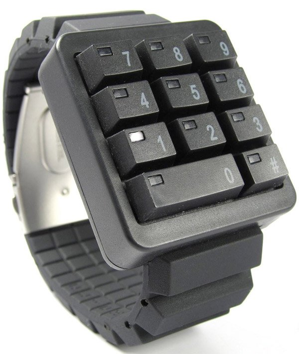 click keypad watch black