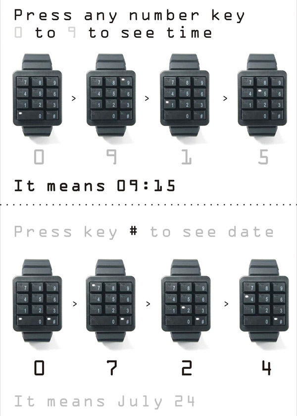 click keypad watch directions