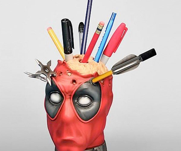 You Need This Deadpool Pencil Holder Like Deadpool Needs Several Holes in His Head