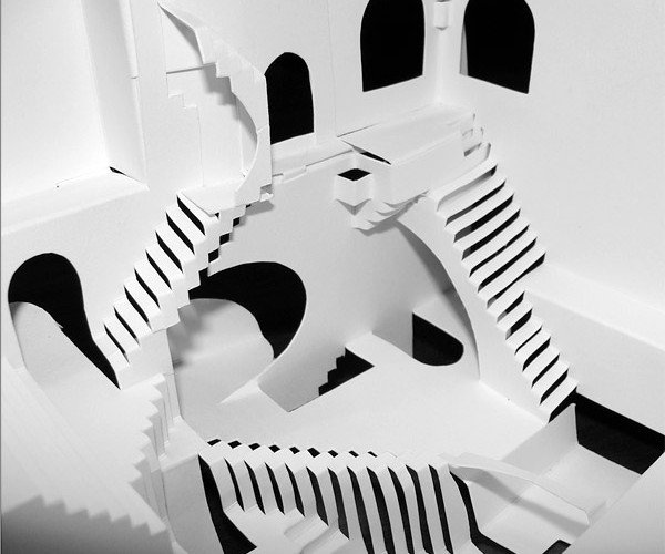 M.C. Escher Relativity Papercraft: Relatively Difficult to Cut and Fold
