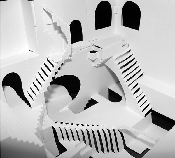 escher relativity papercraft 1