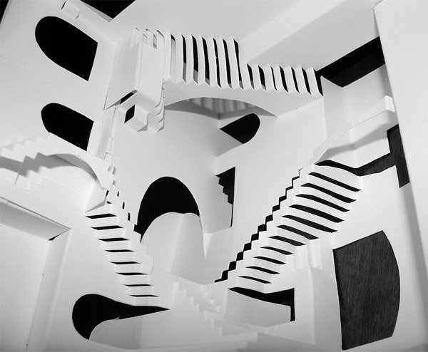 escher relativity papercraft 2