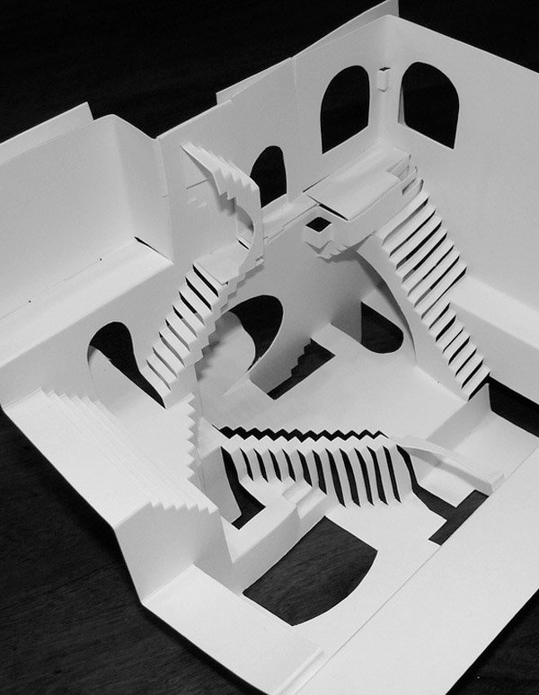 escher relativity papercraft 3