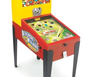 Gumball Pinball Machine: Play it and Chew Gum at the Same Time