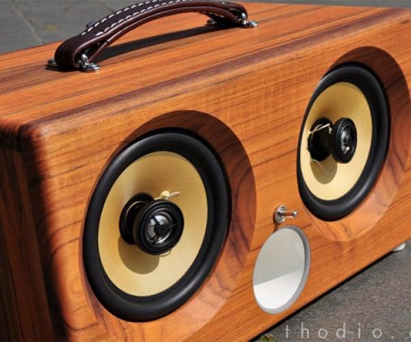 iBox XC iPod Dock Speaker is a Wooden Wonder