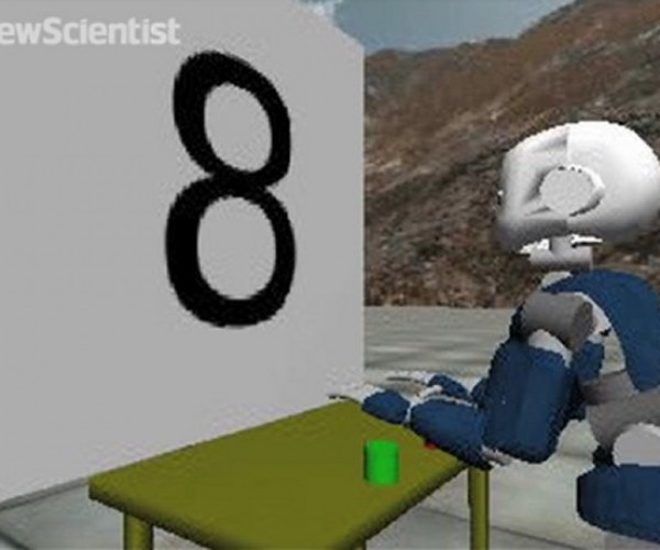 Virtual iCub Robot Counts Like a Human