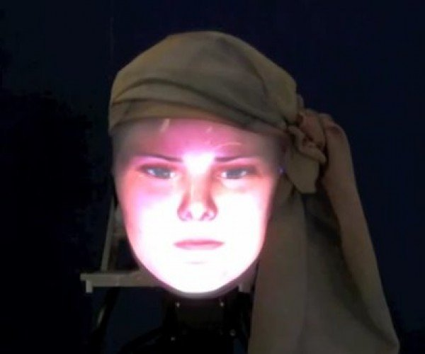 Mask-Bot: the Face-shifting Robot of Your Nightmares