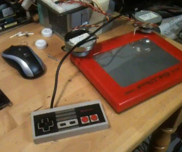 NES-S-Sketch Combines Two of Our Favorite Geek Toys
