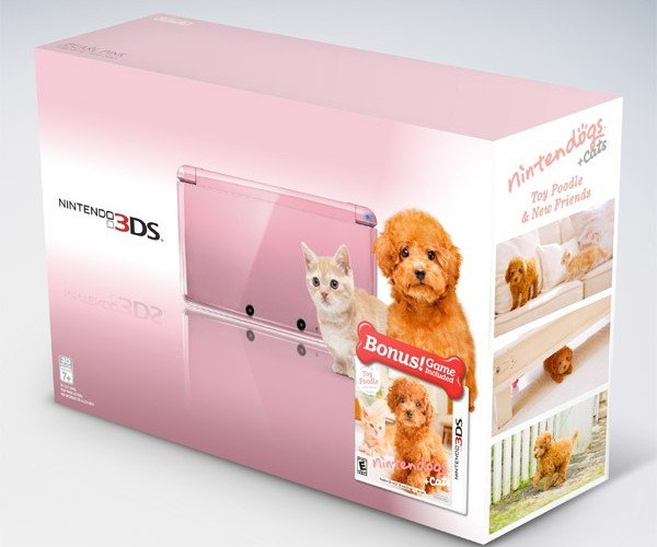 Nintendo Outs New Pink 3DS Bundles: It's Raining Cats and Dogs
