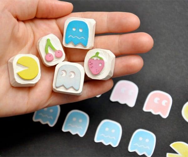 Pac-Man Rubber Stamps: Wakka, Wakka, Stampa