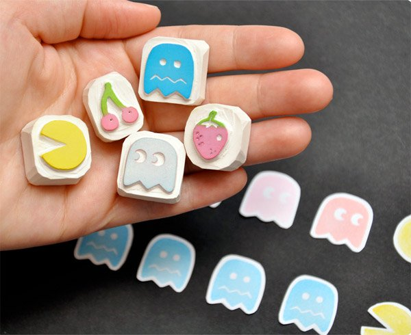 pac-man_rubber_stamps_1