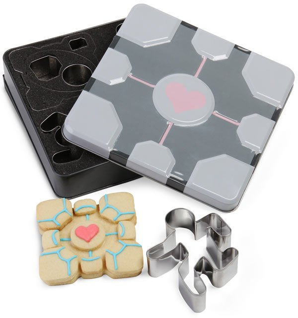 portal cookie cutters from thinkgeek