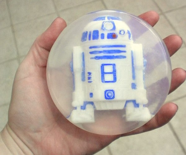R2-D2 Trapped in a Bar of Soap!