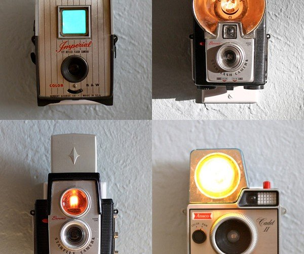 Vintage Camera Nightlights Scare Vintage Monsters Under the Bed