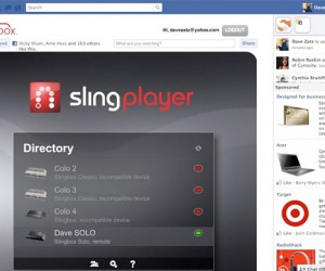 Slingplayer Tosses Your Content to Facebook