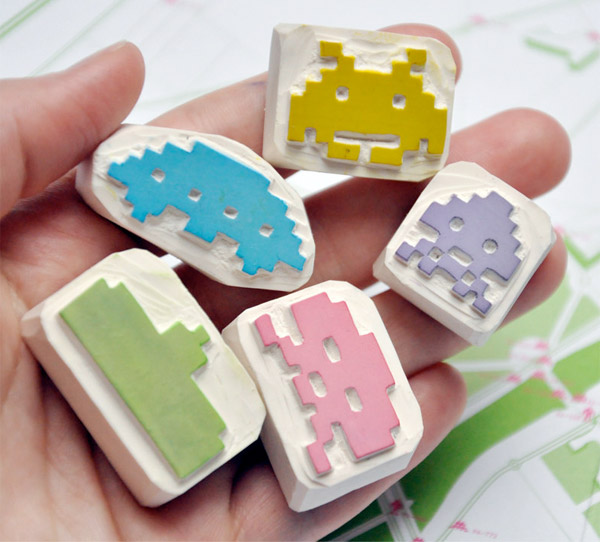 space_invaders_rubber_stamps