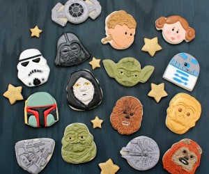 Star Wars Cookies Made from Non Star Wars Holiday Cookie Cutters