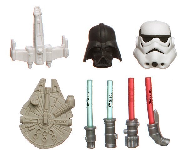 star wars gomu eraser collection