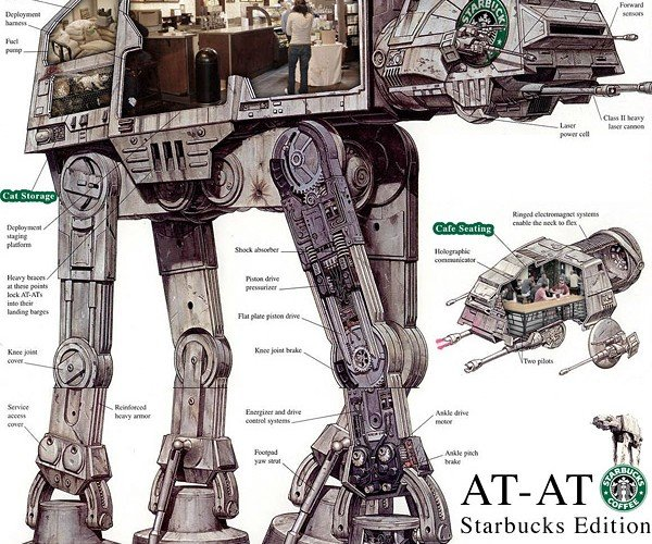 AT-AT Imperial Walker: Starbucks Edition