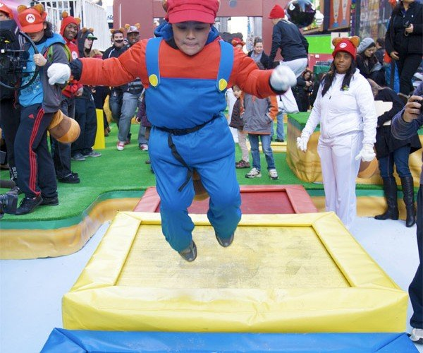 Super Mario 3D Land Hits Times Square with a Real-Life Level