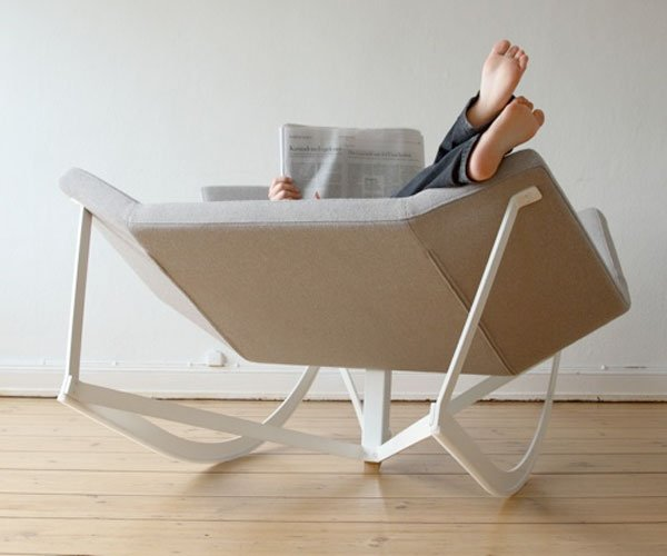 It Looks Like A Geometrically Shaped Chair Thatu0027s Been Stretched Out At  Weird Angles, But Itu0027s A Rocking Chair That Can Seat Two. No More Lonely  Memories Or ...