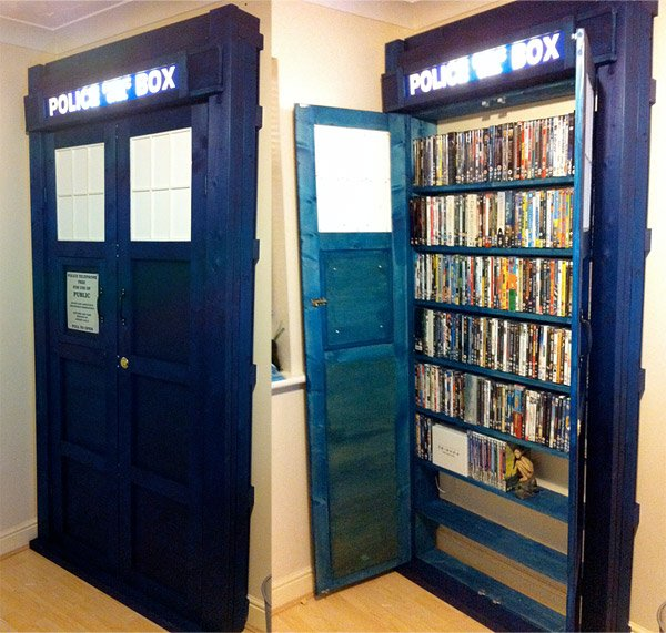 tardis bookshelves 1