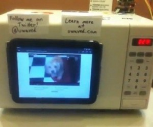 uWave Microwave Lets You Watch Youtube Videos While You Wait for Your Food
