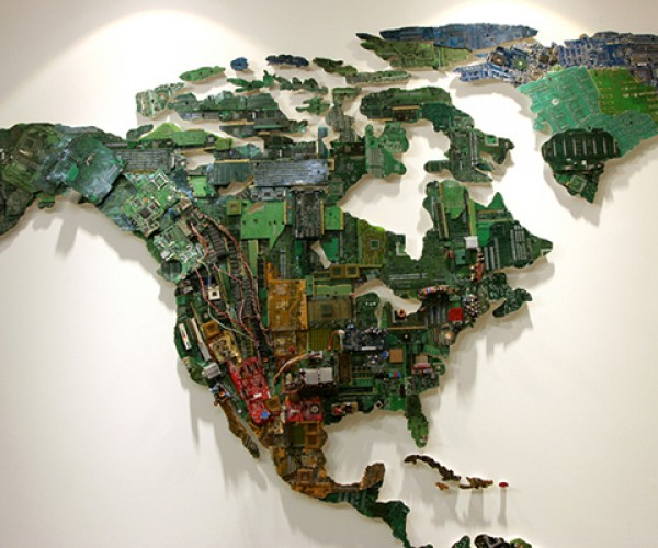 world map computer parts by susan stockwell 3