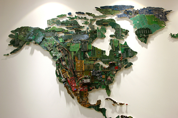 World map computer parts by susan stockwell 3 technabob world map computer parts by susan stockwell 3 gumiabroncs Choice Image