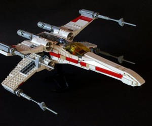 Awesome LEGO X-Wing Fighter: Red Brick Five Standing by