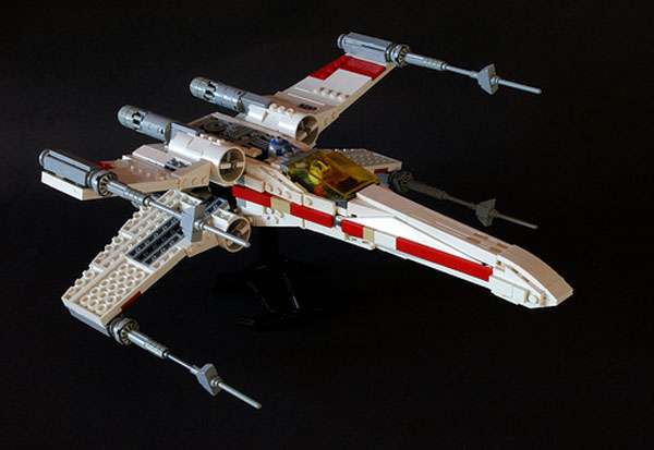 awesome lego x wing fighter red brick five standing by. Black Bedroom Furniture Sets. Home Design Ideas