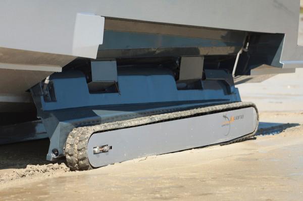 iguana yachts amphibious water land boat treads integrated