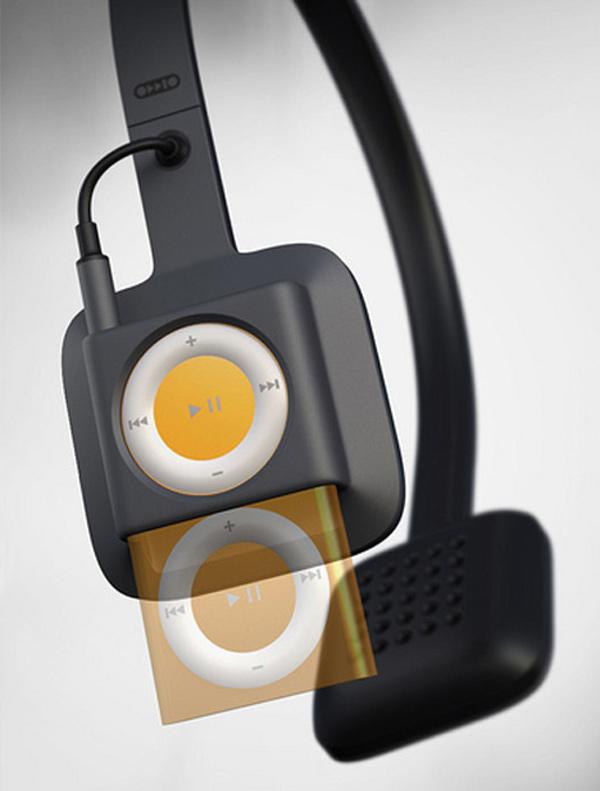 oddio1 headphones design ipod shuffle kickstarter