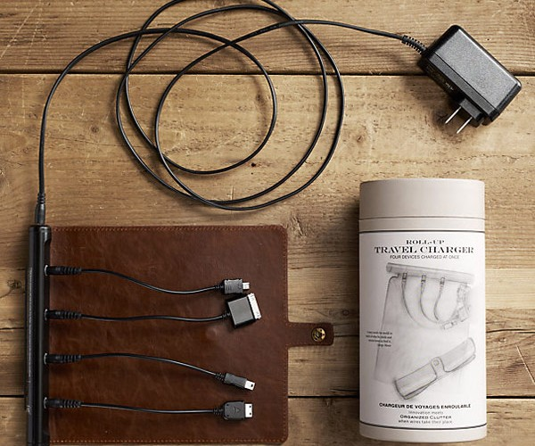 Roll-Up Travel Charger: Power Up with Style