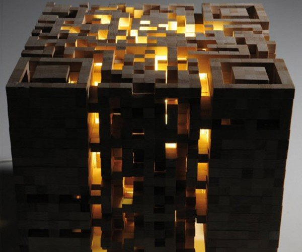 3D QR Code Block Can't Decide If It's a Stool or a Light