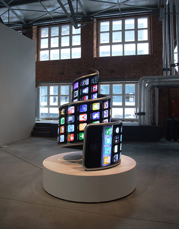 electroboutique twister iphone art installation