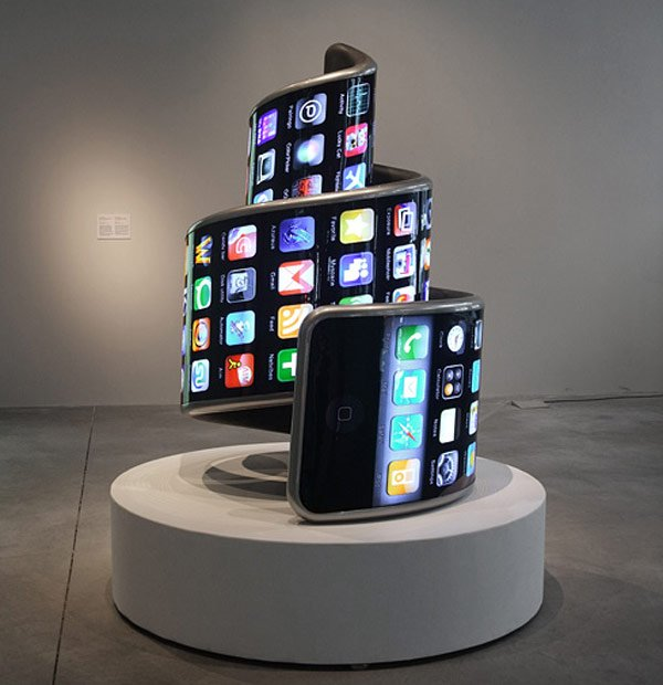 Twisted IPhone Sculpture: Hope Yours Doesn't End Up Like