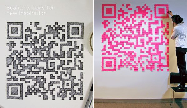 curiosity project qr code handmade digital media