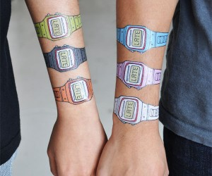 Very, Very Late Temporary Watch Tattoos: Because Who Isn't?