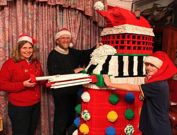 holiday dalek addis family lego fun doctor who