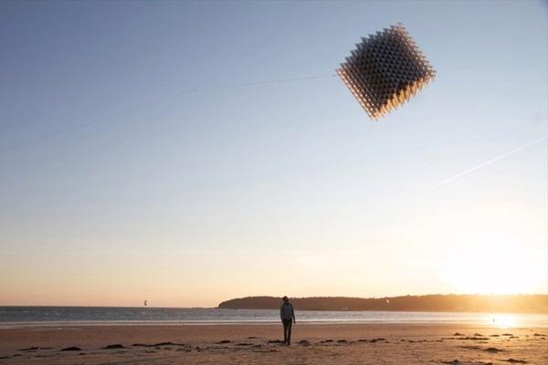 3d printed cubic kite flying sasha reading heather ivan morison