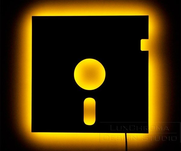 5-1/4″ Floppy Disk Wall Sconce: Storage at the Speed of Light