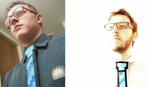 8 bit tie geek wear cool funny pixel