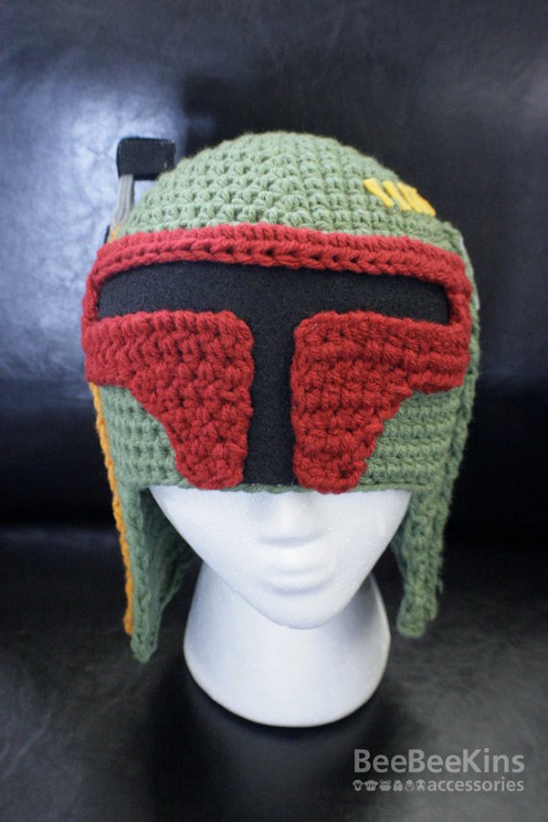 Boba Fett Crochet Hat Because Bounty Hunters Need To Keep Warm Too